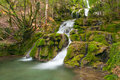 Beautiful waterfall in the forest andoin alava spain Stock Photos