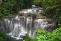 Beautiful waterfall huay mae ka min waterfall in thailand Stock Image