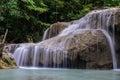 Beautiful waterfall in kanjanaburi thailand erawan Royalty Free Stock Photo