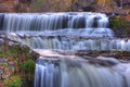 Beautiful waterfall a large at the rivers bank Stock Photography