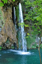 Beautiful waterfall in Plitvice, Croatia Royalty Free Stock Photography