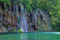 Beautiful waterfall in Plitvice, Croatia Stock Photo