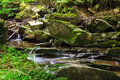 Beautiful waterfall rock in the forest Royalty Free Stock Photo
