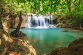 Beautiful waterfall in srinakarin dam national park kanchanaburi province thailand Royalty Free Stock Image