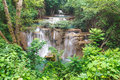 Beautiful waterfall in srinakarin dam national park kanchanaburi province thailand Stock Photo