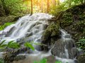 Beautiful waterfall in tropical forest at National Park Royalty Free Stock Photo