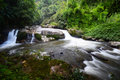 Beautiful waterfall : Vachiratharn waterfall in Chiang Mai, Thai Royalty Free Stock Photo