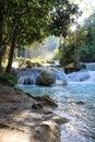 Beautiful Waterfalls blue water Laos