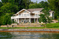 Beautiful Waterfront Home, Smith Mountain Lake Stock Photo