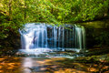 Beautiful watrefalls in upstate south carolina deep forest Stock Images