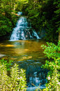 Beautiful watrefalls in upstate south carolina deep forest Stock Photo