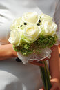 Beautiful wedding bouquet with white roses Royalty Free Stock Images