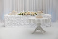 Beautiful wedding cake on the table Royalty Free Stock Photo