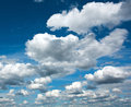 Beautiful white clouds in the clear blue sky, purity of nature Royalty Free Stock Photo