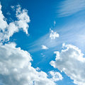 Beautiful white clouds in the clear blue sky purity of nature Royalty Free Stock Image