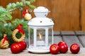 Beautiful White Lantern On Woo...