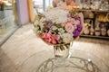 Beautiful white, pink, purple flower romantic bouquet Royalty Free Stock Photo