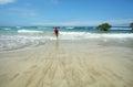 Beautiful white sand beach in the Galapagos Islands, Ecuador Royalty Free Stock Photo