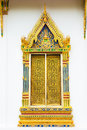 Beautiful window of buddhistic temple Royalty Free Stock Image