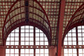 Beautiful windows of antwerp central station in belgium Stock Images