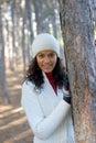 Beautiful winter girl Stock Images