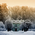 Beautiful winter in Kuskovo Stock Images