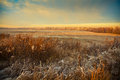 Beautiful winter landscape at sunset Royalty Free Stock Photo