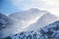 Beautiful Winter mountain landscape from Rila mountain , Bulgaria Royalty Free Stock Photo