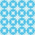 Beautiful winter seamless pattern with snowflakes. Christmas background. Vector illustration