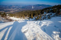 Beautiful winter sunny day in beskid mountains photo taken beskidy mala babia gora babiogorski park narodowy Stock Images