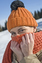 Beautiful winter woman Stock Photo