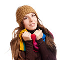 Beautiful Winter Woman Royalty Free Stock Photos