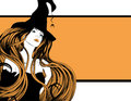 Beautiful witch with long hair Royalty Free Stock Images