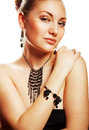 Beautiful woman with accessorize Royalty Free Stock Photography