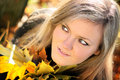 Beautiful woman, autumn. Royalty Free Stock Images