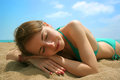 Beautiful woman on the beach young Royalty Free Stock Images