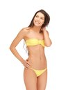 Beautiful woman in bikini bright picture of Stock Photo