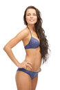 Beautiful woman in bikini bright picture of Royalty Free Stock Images