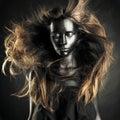 Beautiful woman with black skin Royalty Free Stock Photo