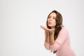 Beautiful woman blowing kiss Royalty Free Stock Photo