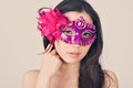 Beautiful woman in a carnival mask Royalty Free Stock Images