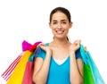 Beautiful Woman Carrying Shopping Bags Royalty Free Stock Photo