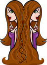 Beautiful woman cartoon illustration Royalty Free Stock Image