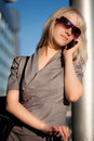 Beautiful woman with cellphone Stock Photography