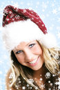 Beautiful woman at christmas Stock Photo