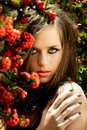 Beautiful woman with coral lips Royalty Free Stock Photo