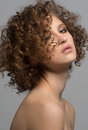 Beautiful Woman with Curly Hair Royalty Free Stock Photo