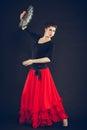 Beautiful Woman Dancing Orient...