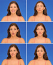 Beautiful woman expressions Stock Image