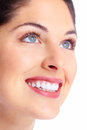 Beautiful woman face young dental health Royalty Free Stock Image